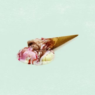 Les Mauvais Jours LP Cover featuring a waffle full of melted ice cream