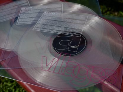 "Picture of three Villages ""ILL AGES"" LPs, lying on a park bank"