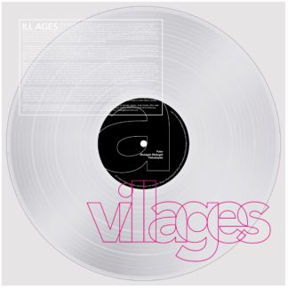 Villages LP mock-up featuring a transparent vinyl in a picture disc sleeve with colored silkscreen print