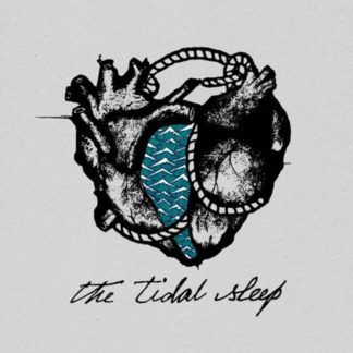 Cover of The Tidal Sleep S/T LP showing a drawn schema of a heart with a waterfall in the center. The band name is written in italic letters underneath.
