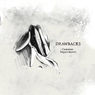 "Drawn Cover of the Drawbacks ""Common Impairments"" EP. It shows parts of a head w/ neck and a coat beside the artist and album title."
