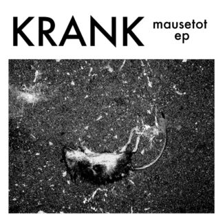 "B/W Cover of the Krank ""Mausetot"" EP showing a dead mouse lying on blacktop."