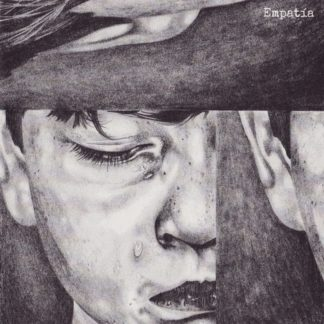 "Cover of the Empatía Discography 7"" showing a b/w drawing of a child's face with tears in her/his eyes. Artwork by Christian Brix."