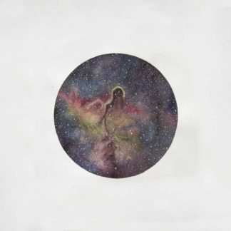 "Cover of the Desidia / La Ciencia ""IC 1396"" Split EP showing a colored star cloud / star dust."