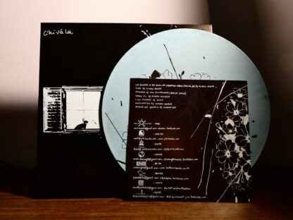 """Photo of the Chivàla """"II"""" EP Booklet Back showing some credits and all co-releasing labels"""